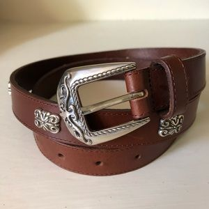 Fossil Brown Skinny Leather Belt Size Large